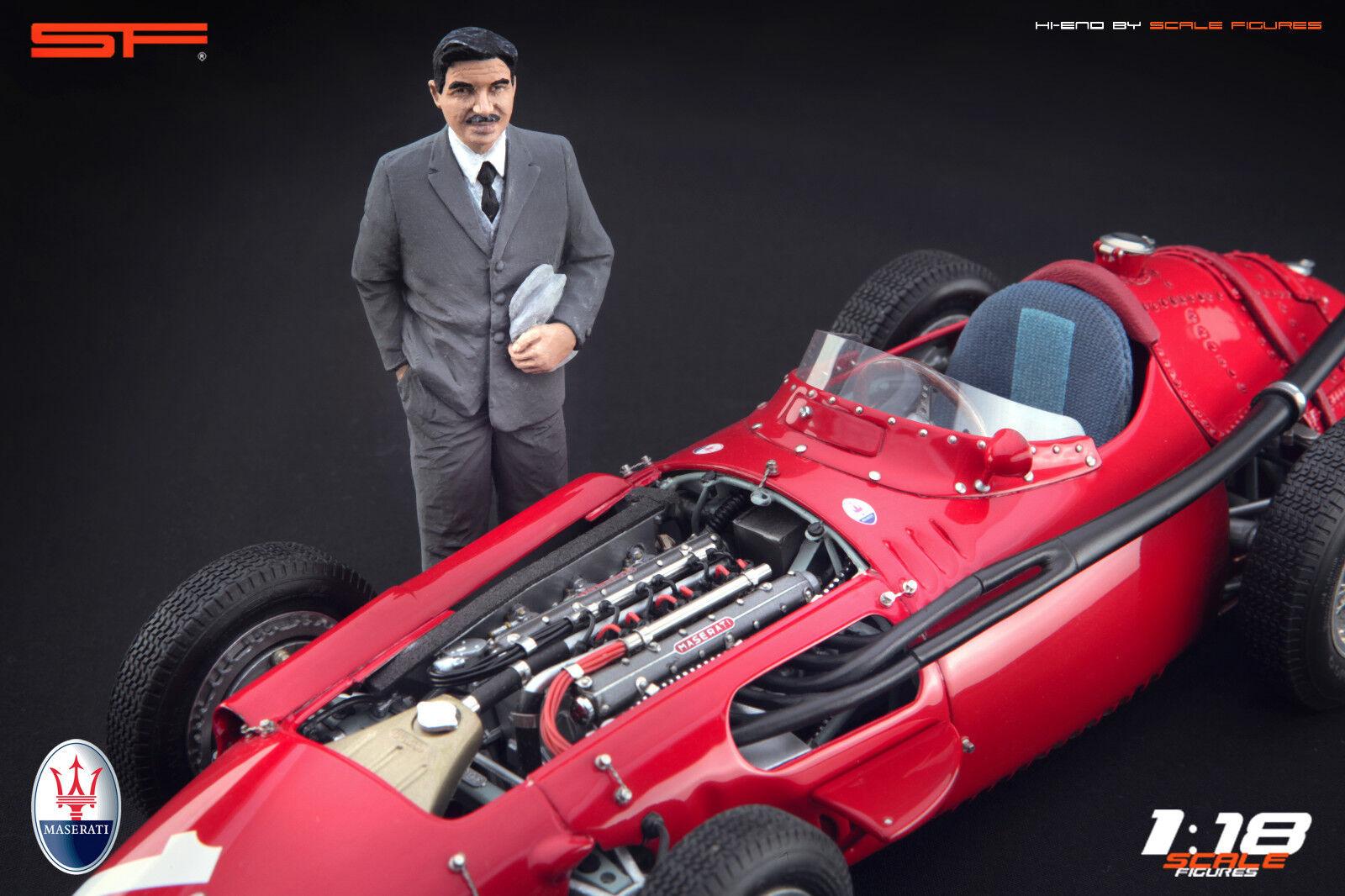 1:18 Alfieri Maserati figurine VERY VERY VERY RARE painted, NO CAR 7c88fc
