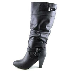 Women's RAMPAGE ELISA Black Knee High Pull On w/Ankle Zip ...