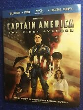 Captain America: First Avenger (Blu-ray/DVD/Digital HD, 2011) w/OOP Slipcover