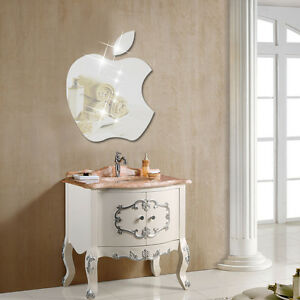 Image Is Loading Apple Logo Wall Stickers Home Decor Mirror Decals