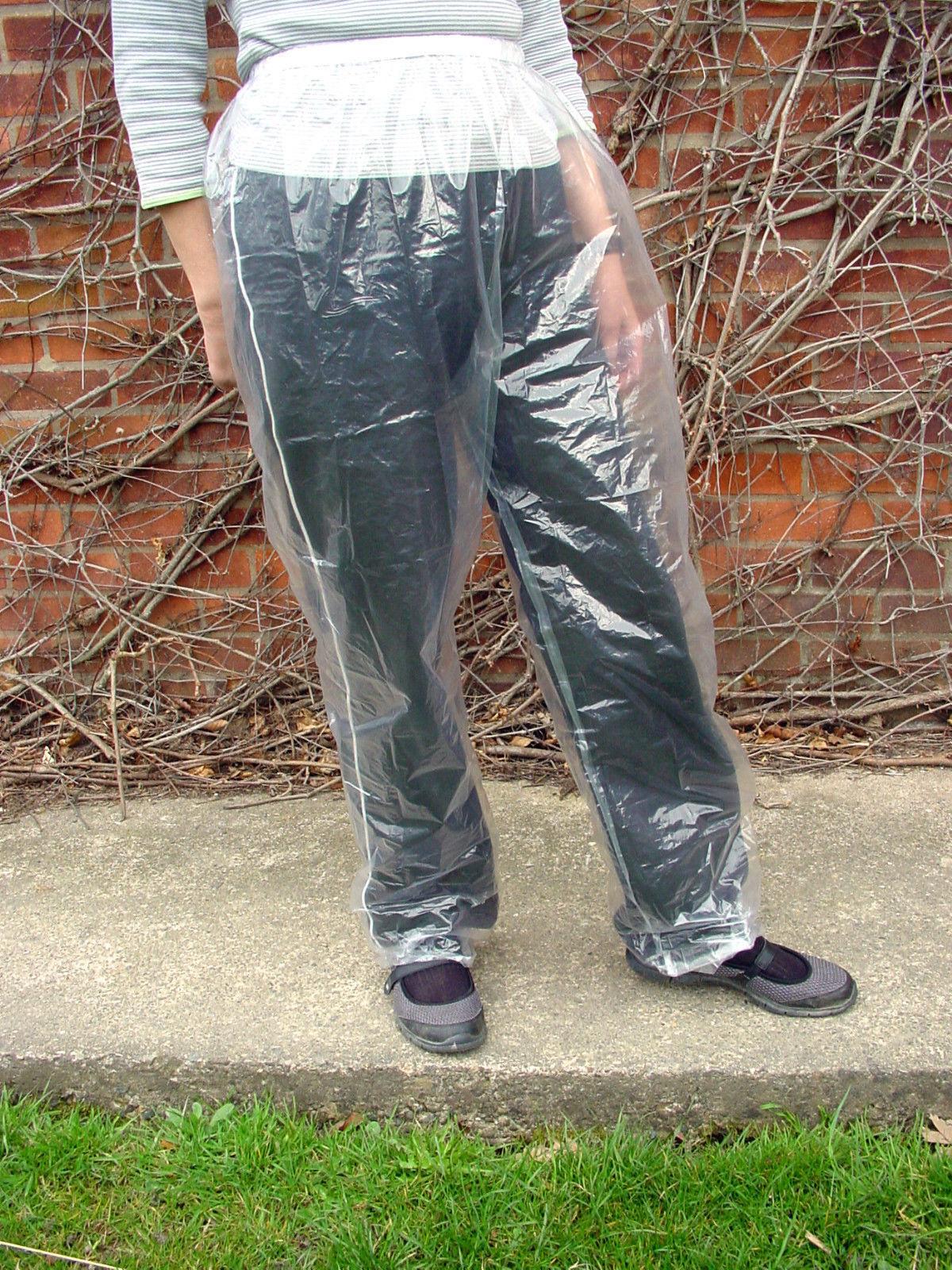 4X Desechable Pvc Pantalones Transparente Plástico Impermeable Impermeable Impermeable Festival Pesca  entrega gratis