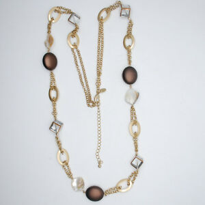 LIA-SOPHIA-JEWELRY-MATTE-GOLD-TONE-LONG-NECKLACE-MOTHER-OF-PEARL-BEADED