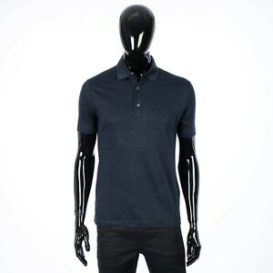 LORO-PIANA-550-Classic-Polo-Shirt-In-Navy-Blue-Linen-Jersey