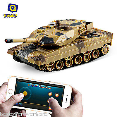 Hot H500 Bluetooth 2.0 RC Tank Gravity Sensor Shooting Simulated Panzer Toy