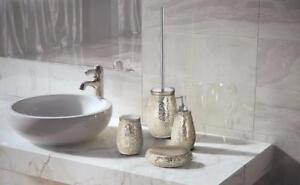 Scopini Da Bagno Ceramica : Set accessori bagno ceramica myosotis gedy bicchiere sapone