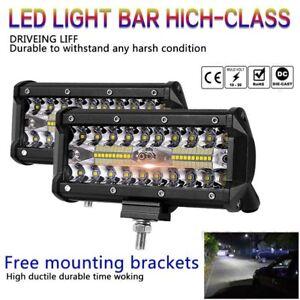 7inch-400W-LED-Work-Light-Bar-Flood-Spot-Beam-Offroad-4WD-Driving-Fog-Lamp-UK