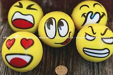 Emoticon Stress Relief Round Ball Soft Hand Therapy Happy Face LOL YOLO