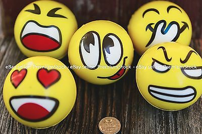 Emoticon Stress Relief Round Ball Hand Therapy Exerciser Health Restore Gift