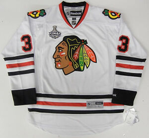 in stock 8a5bd 2587f Details about DUSTIN BYFUGLIEN CHICAGO BLACKHAWKS 2010 STANLEY CUP REEBOK  PREMIER AWAY JERSEY