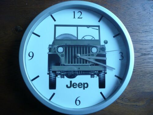 JEEP pendule murale horloge 20cms WILLYS FORD MB GPW M201 HOTCHKISS US 4x4 truck