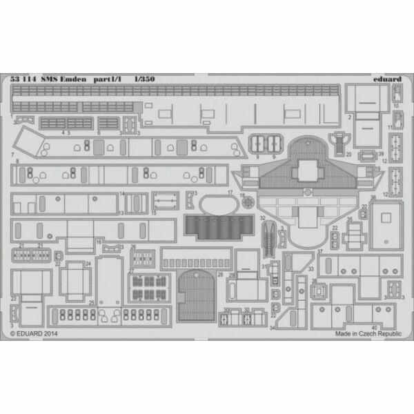 EDUARD 53114 Detail Set für Revell® Kit SMS Emden Part 1 in 1:350