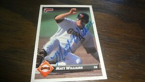 1993-DONRUSS-MATT-WILLIAMS-AUTO-BASEBALL-CARD
