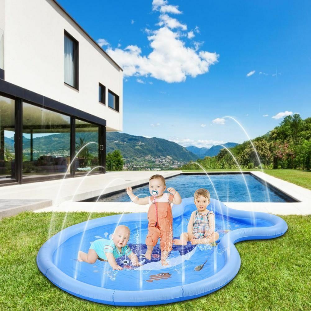 Kids Inflatable Water Sprinkler Pad Splash Play Pool Sprayer Mat For Outdoor Fun