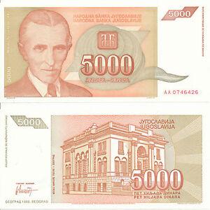 Yugoslavia-Yugoslavia-5000-Dinara-1993-UNC-Pick-128