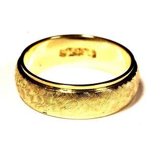 14k-yellow-gold-florentine-finish-womens-wedding-band-5-3g-estate-vintage