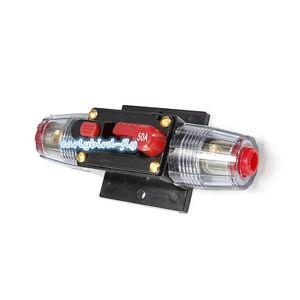 50 amp in line circuit breaker stereo audio car rv 50a 50amp fuse rh ebay com