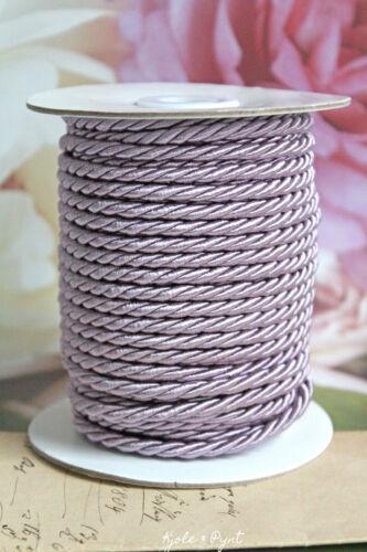 0,50 €//M 5 m satin cordon violet lilas Double pivotée satin cordon résistant aux intempéries 3 mm