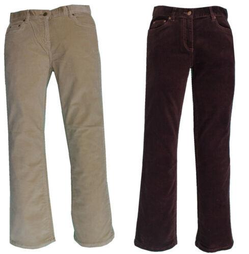 Ladies Womens Corduroy Trousers Pants Stretch Bootcut Straight Flared Cotton New