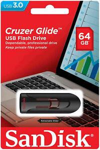 SanDisk-Cruzer-Glide-64GB-32GB-16GB-USB-3-0-Flash-Drive-Thumb-Stick-Memory