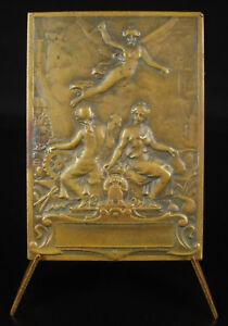 Medaglia-a-Pietre-Salafranque-Allegorie-Degli-Scienze-e-Industria-1900-Medal
