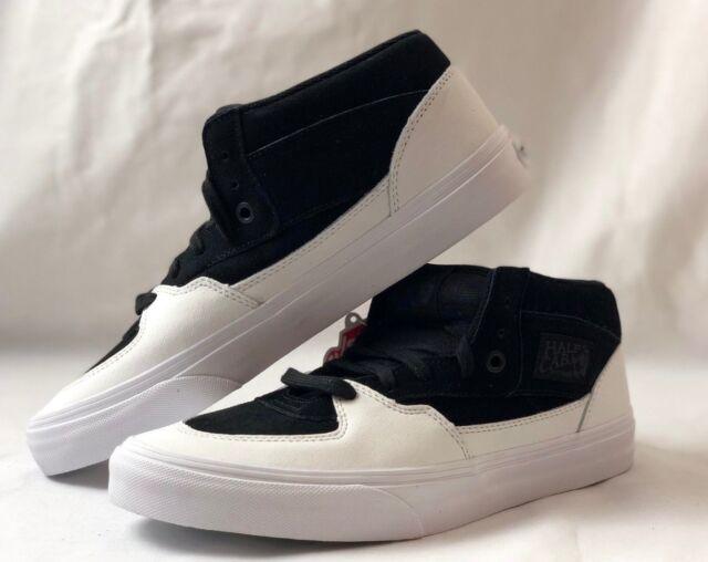 717c7a0af5 Vans Half Cab Dipped Black True White Skate Men s 8