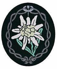 Gebirgsjager Edelweiss BEVO Arm Patch - WW2 Repro German Army Badge Mountain