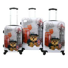 5bf7c9f5e Chariot Doggie 3-Piece Expandable Hardside Lightweight Spinner Luggage Set  - UK