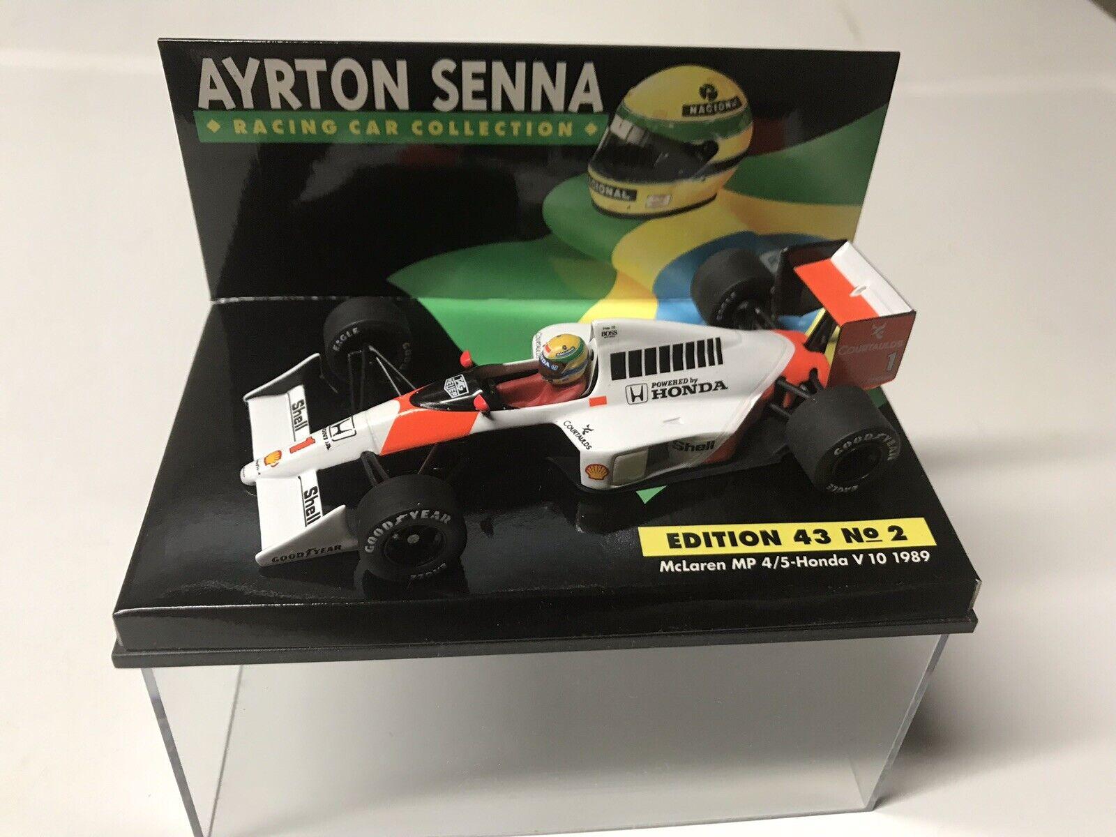 Minichamps 1989 Ayrton Senna  1 McLaren Honda MP4 5 GP 1 43 MIB •