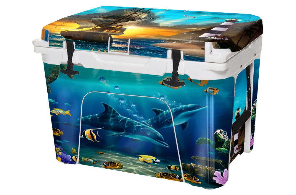 USATuff YETI Custom Cooler Wrap fits YETI USATuff Tundra 110qt FULL Pirates Lighthouse ca62b4