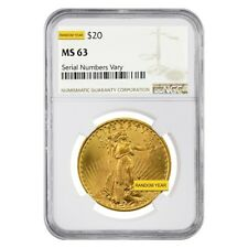 Sale Price - $20 Gold Double Eagle Saint Gaudens NGC MS 63 (Random Year)