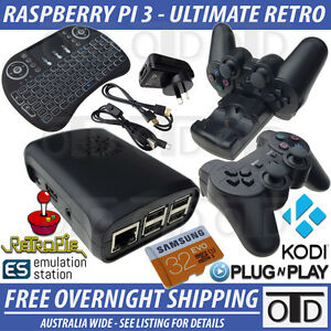 Details about Raspberry Pi 3 Ultimate Retro Package RetroPi KODI Remote  2 5A Power Switch