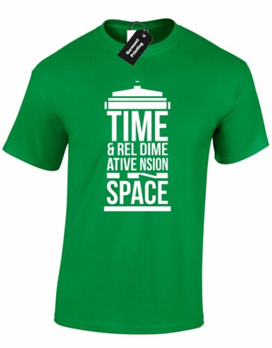 TIME AND RELATIVE DIMENSION MENS T SHIRT THE DOCTOR DR SCI FI DESIGN RETRO