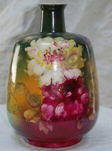 Royal-Bonn-Franz-Mehlem-Hand-Painted-German-Vase-1884-1920-Ceramic-amp-Porcelain