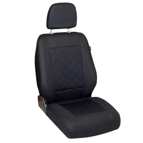 Intensiv Schwarze Sitzbezüge MERCEDES SPRINTER Autositzbezug VORNE FAHRERSITZ