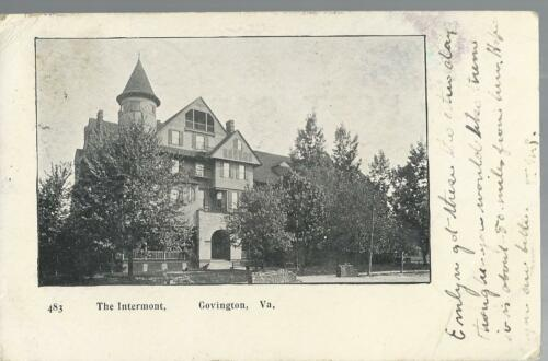 1906 RPPC THE INTERMONT, COVINGTON, VIRGINIA