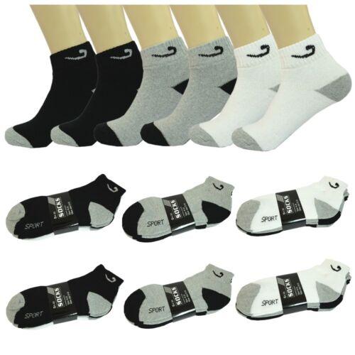 Wholesale Assorted Colors Men/'s Ankle Quarter Sport Cotton Socks Size 9-11 10-13