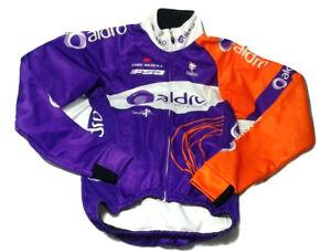 NALINI-aldro-Cycling-Jersey-Orange-Purple-NALINI-cappellino-Eddy-Merckx-Sz-2-Zip