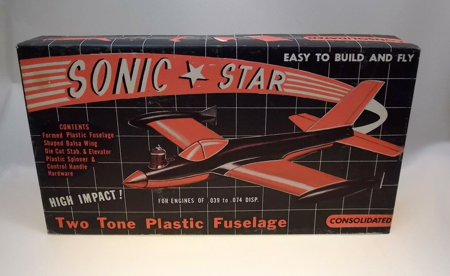 VINTAGE CONSOLIDATED SONIC STAR CONTROL LINE  MODEL AIRPLANE KIT