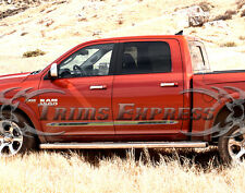 """2009-2017 Dodge Ram Crew Cab 4Pc Flat Body Side Molding 1.5"""" Stainless Steel"""