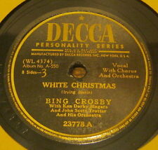 bing crosby 78 white christmas