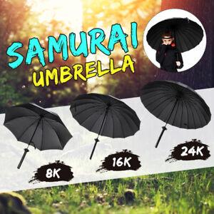 Automatic Open 8//16//24 Ribs Umbrella Sword Handle Sun Rain Wind Proof With