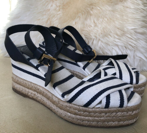 Tory Burch Espadrille Wedge, Size 6