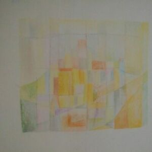 Rare-grand-dessin-fusain-geometrique-abstraction-lyrique-annees-40-50