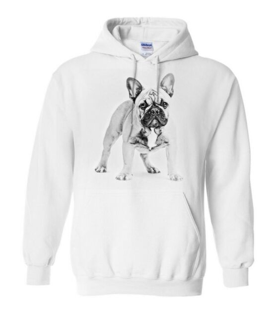 Cute French Bulldog Dog Love Unisex Winter Sweatshirt Hooded Shirt Hoodie Gift