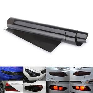 30cm-x-120cm-Light-Smoke-Black-Tint-Film-Headlights-Tail-lights-Car-Vinyl-Wrap