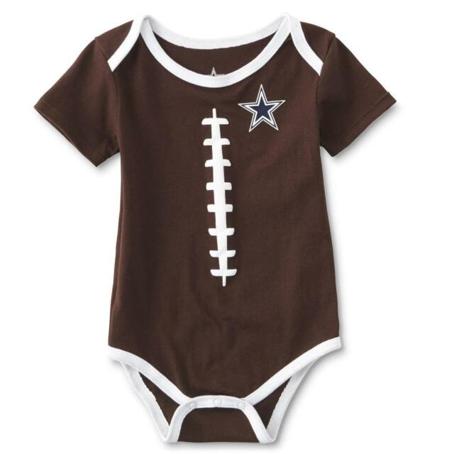 Dallas Cowboys NFL Infant Boys Brown Football Bodysuit Creeper Size 9  Months NWT fb233ec8a
