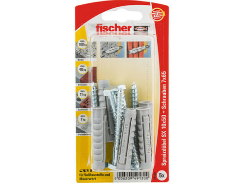 49130 Fischer Dübel SX 10x50 S mit Schraube