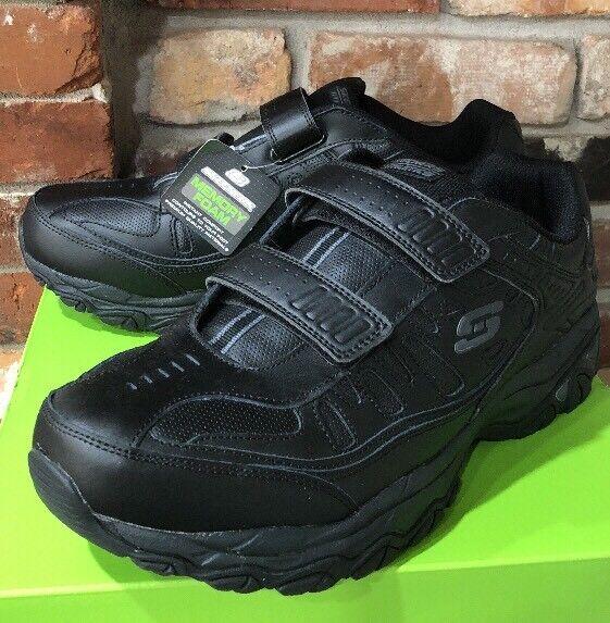 Men's SKECHERS After Burn M Fit Final Cut Black Athletic Shoes Size 12 NEW