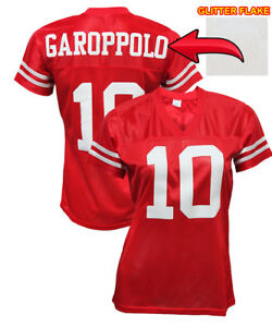separation shoes 6a924 0fe0b Details about Custom Womens Blinged Football RED Jersey,ANY NAME,NUMBER  Jimmy Garoppolo