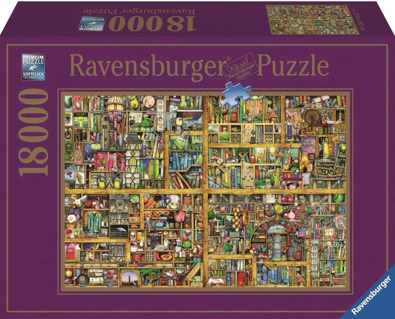 Ravensburger  puzzle  18000 pièces  Colin thompson  magique étagère de bibliothèque xxl17825